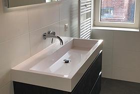 Badkamer geplaatst in nieuwbouwwoning Drachten