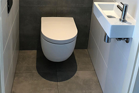 Badkamer en toiletrenovatie Canterstate Leeuwarden